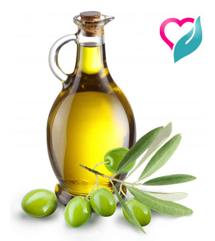 olive and olive oil in bottle