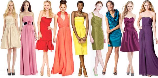 different color dresses