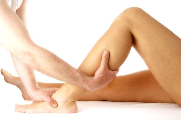 massaging legs