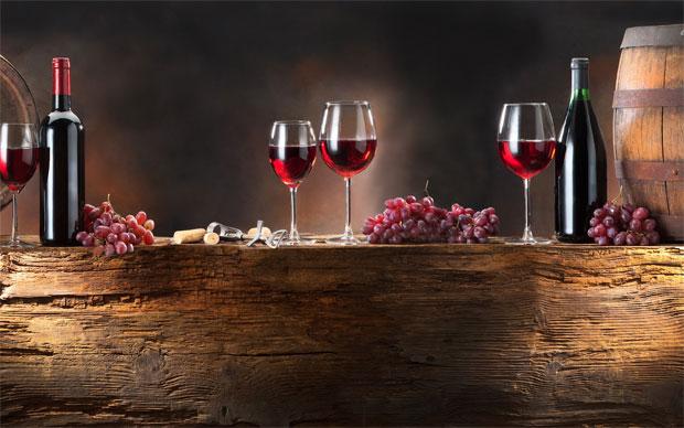 red wine barells
