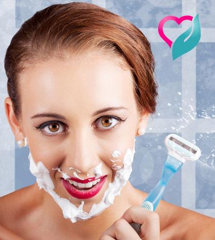 shaving woman