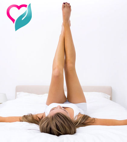 stretching in bed