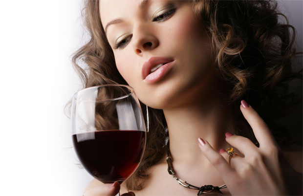wine woman desire