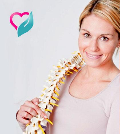 woman with bone