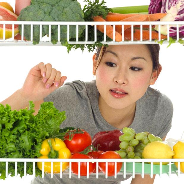 food inside fridge