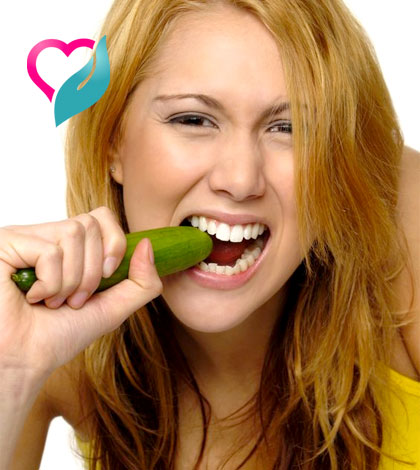 eating cucumber