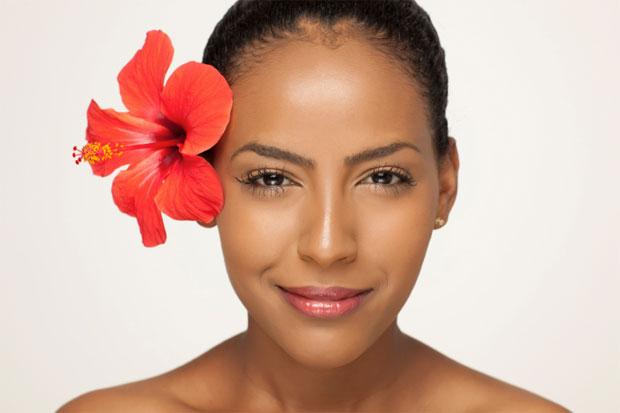 woman hibiscus