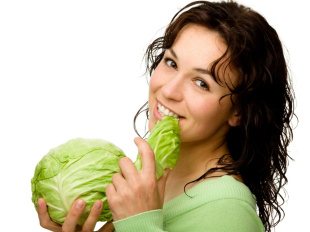 eating cabbage
