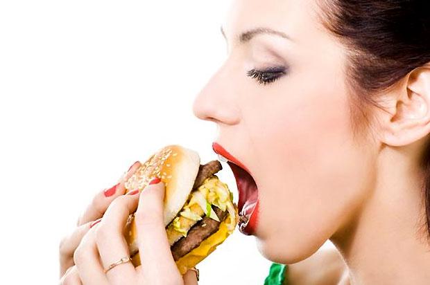 eating fat food