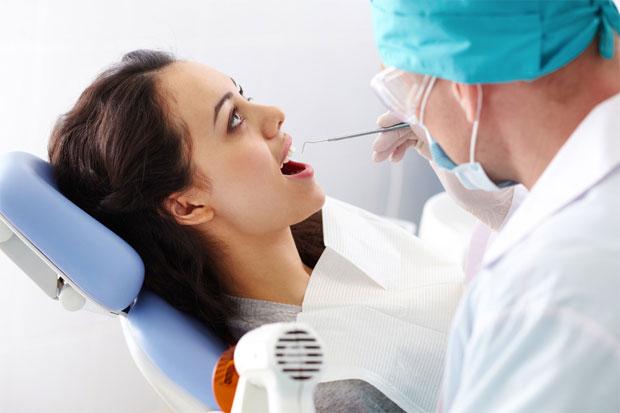 checking teeth