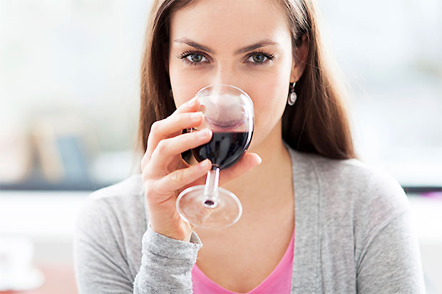 wine drinking girl