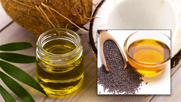 Mustard oil Coconut oil