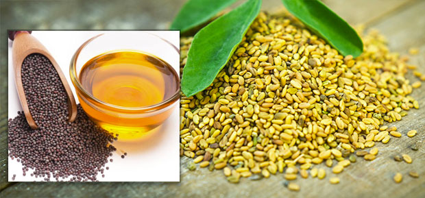 Mustard oil fenugreek seeds
