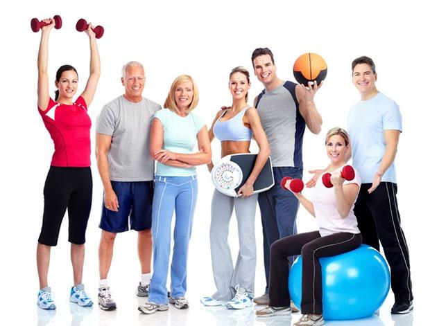 exercising team