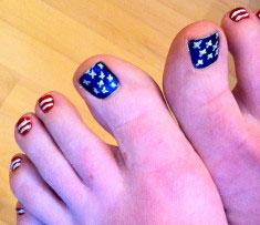 blue toe feet