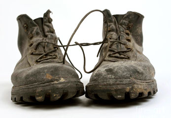 very old shoes