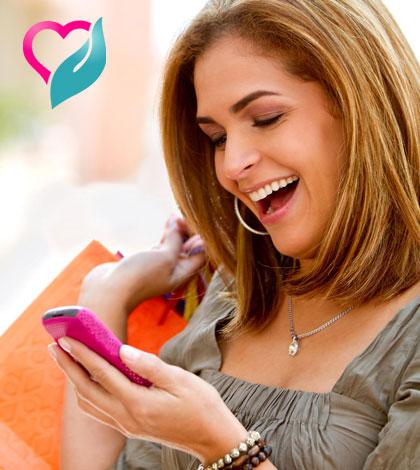 women enjoy texting