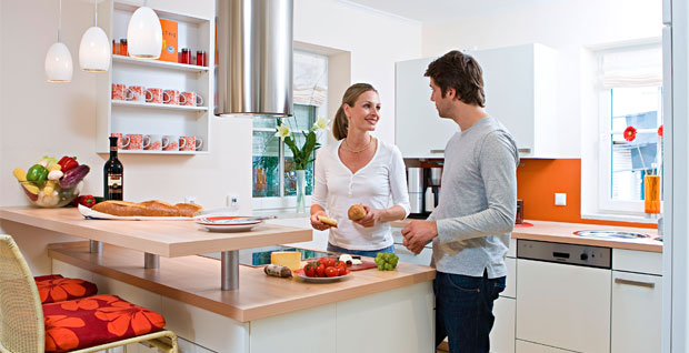 couples in kitchen