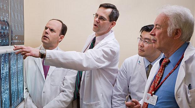 doctor diagnosing