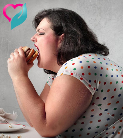 fat woman eating