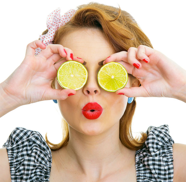 lemon on eyes