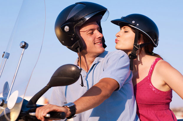 couples on bike