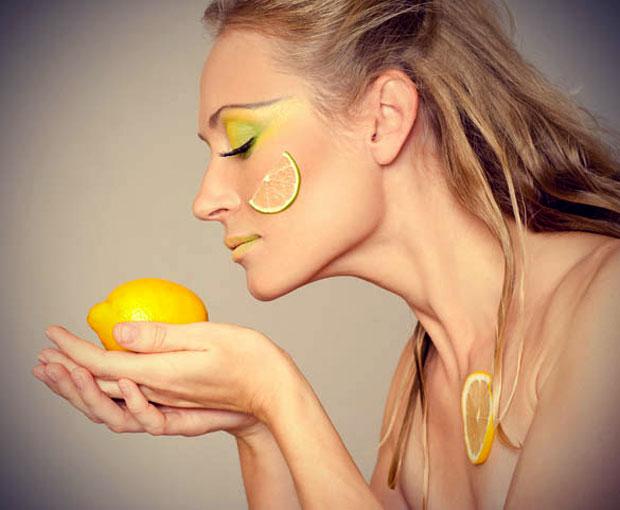 face lemon juice