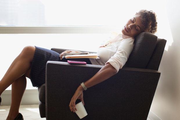 sleeping in office