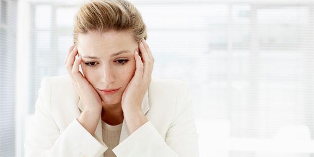 sad thinking woman