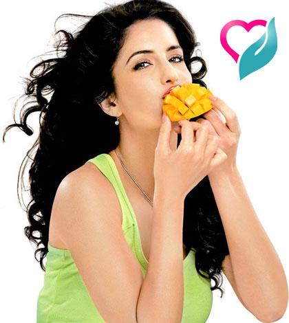 eating mango seed