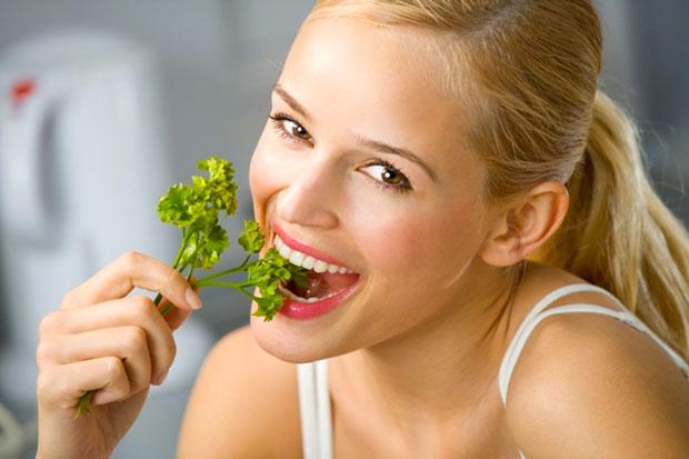 eating parsley