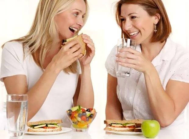 drinking during eating
