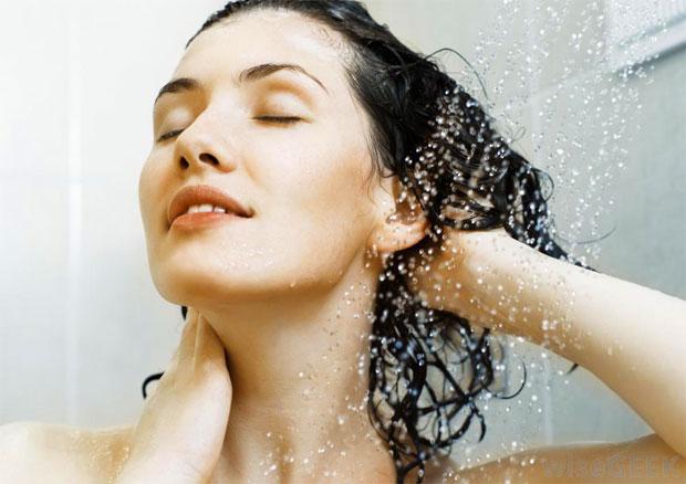 water softening hair