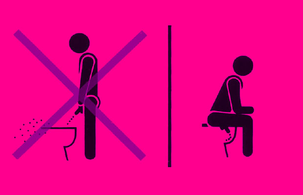 sit and pee