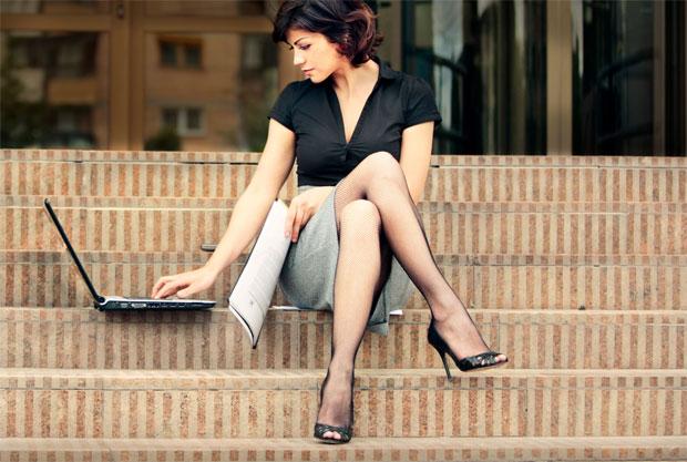 workaholic woman