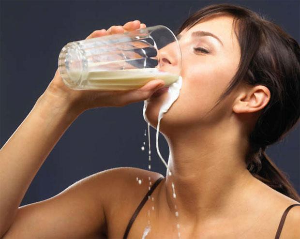 drinking honey and milk
