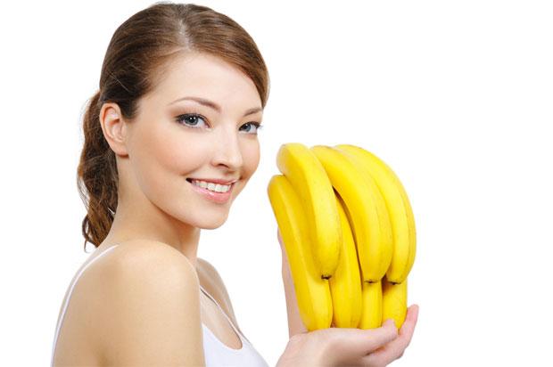 girl with banana