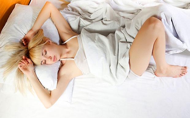 sleeping woman position