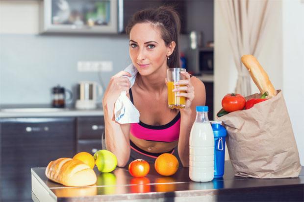 woman healthy drink