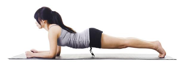 plank exercise girl