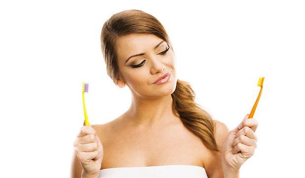 selecting toothbrush