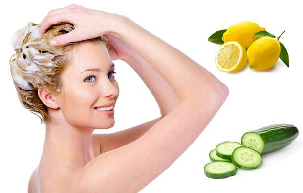 lemon and cucumber for hair