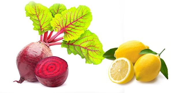 beetroot and lemon