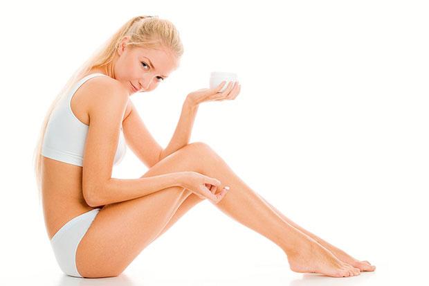 applying inner thigh