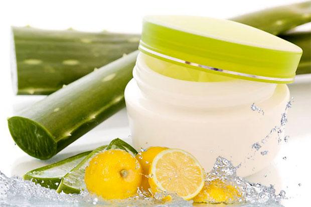 aleovera and lemon juice
