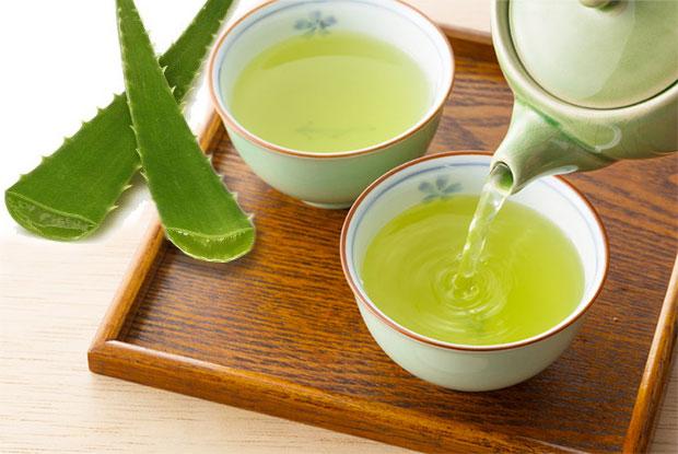 aleo vera with green tea