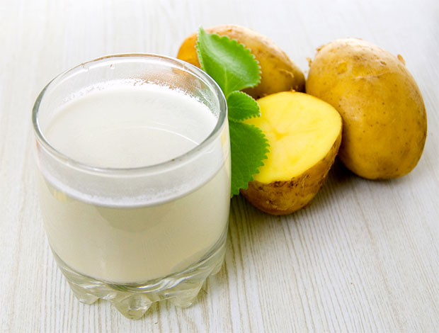 raw potato juices