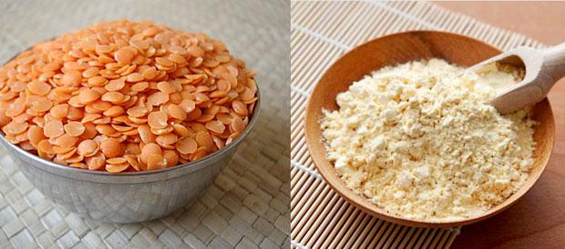 Masoor Dal and flour