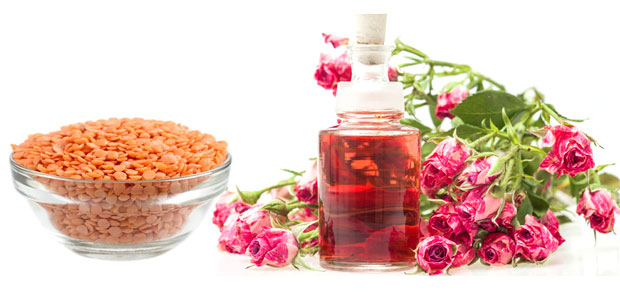 Masoor Dal rose water