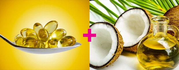 Vitamin E and coconut oil